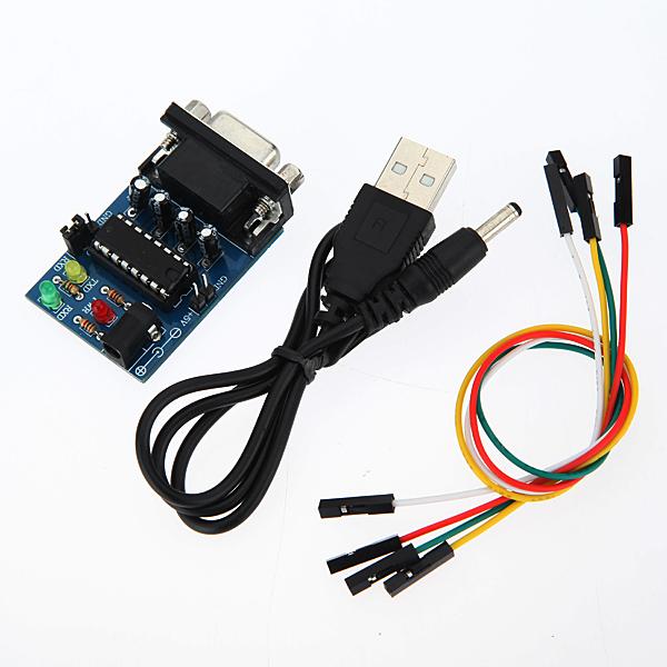5stk Indbygget MAX232CPE Chip RS232 TTL Converter Module med Kabler Arduino SCM & 3D-printer