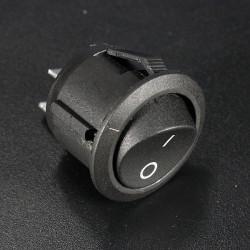 5st Mini Rund Svart 2 Pin SPST ON-OFF Tryckvippströmställare Button