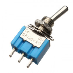 5Pcs SPDT 3 Pins Toggle Switch AC 125V 6A ON/ON 2 Position