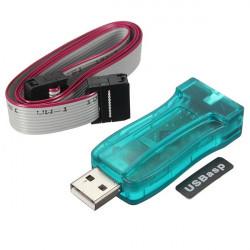 5V USBASP USBISP AVR Programmør Hent Kabel med 10 Pin Kabel Case