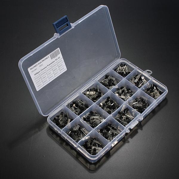 600st 15 Värde X 40st Transistor TO-92 Sortiment Box Kit med Boxas Arduino SCM & 3D-skrivare