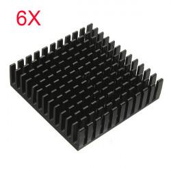 6stk 40x40x11mm Aluminium Kühlkörper Kühlkörper Kühl Für IC Power LED Transistor