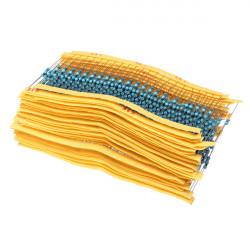 750Pcs 30 Values 1% 1/4W Five Color Ring Metal Film Resistor Kit