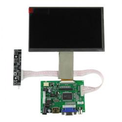 "7"" HD-upplösning 1024 X 600 LCD Desktop Digital HD Display Kit för Raspberry Pi"