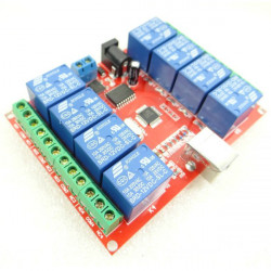 8 Channel 12V USB Control Switch Free Drive Relay Module Computer Controller