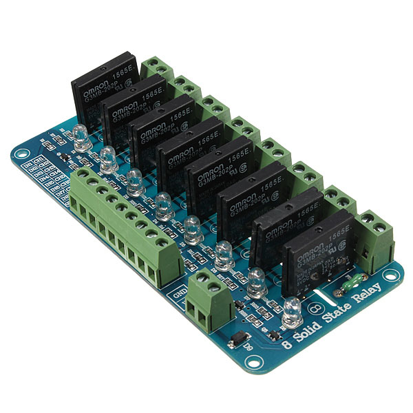 8 Channel 5V Solid State Relay Board Module OMRON SSR AVR DSP Arduino Arduino SCM & 3D Printer Acc