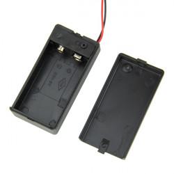 9V Batterihållare Låda med Kabel ON / OFF Switch