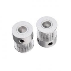 Aluminium 2GT 16 Tänder Timing Remskiva Hjul 5mm Inre för 3D-skrivare