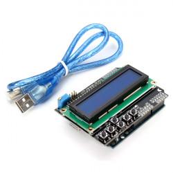 Arduino-kompatibel UNO R3 + LCD 1602 Knappsats Skärmad Kit för Arduino