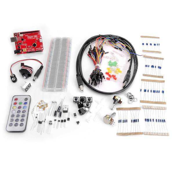 Arduino Compatible Starter Kit Open Jumper Zduino UNO R3 Basic Element Arduino SCM & 3D Printer Acc