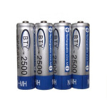 BTY 1.2V 2500mAh 4PCS AA Ni-MH-NiMH genopladeligt batteri Batterier & Opladere