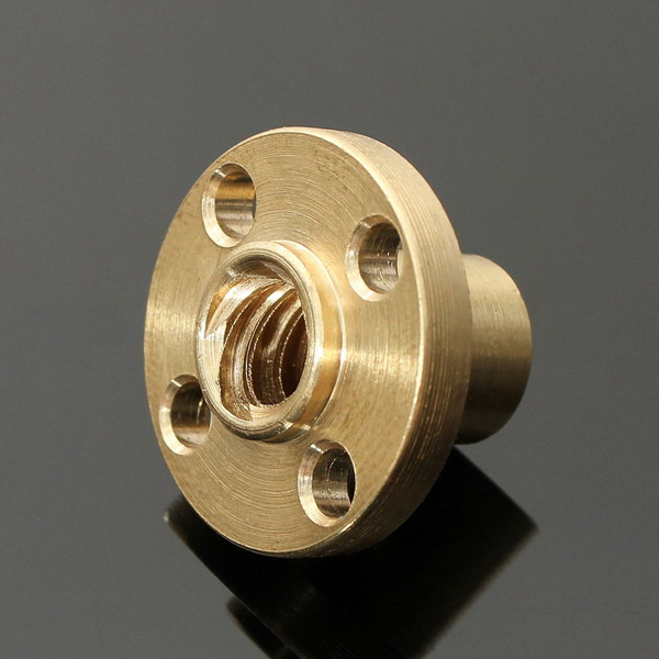 Brass Flange Nut For 3D Printer Z Axis 8mm Stainless Steel Arduino SCM & 3D Printer Acc