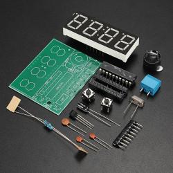 C51 4 Bitar Elektronisk Klocka Elektronisk Production Suite Byggsats