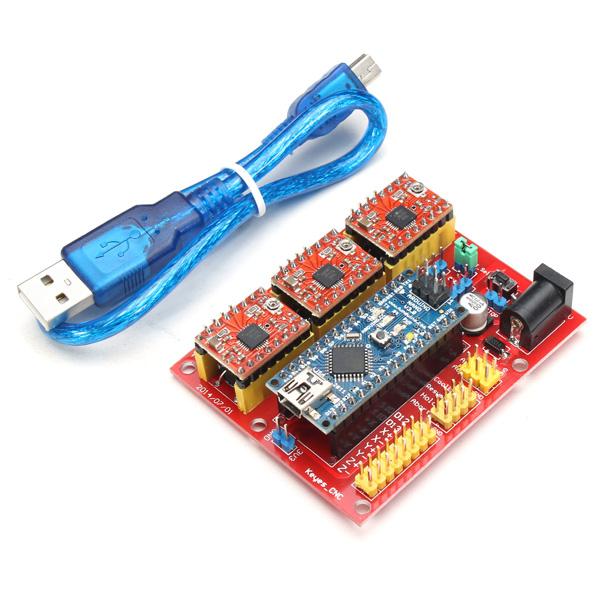 CNC Shield V4 Expansion Board med Nano A4988 for Arduino 3D Printer Arduino SCM & 3D-printer