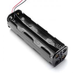 DIY 12V 4-Slot 8 X AA Batteri Hållare Serieanslutning med Trådar