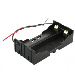 DIY 2 Slot Parallel 18650 Batteri Holder med 2 Leads