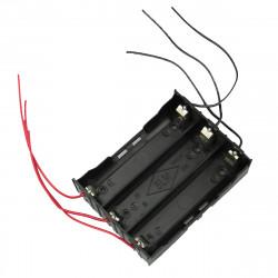 DIY 3 Slot 18650 Batteri Holder med 6 Leads