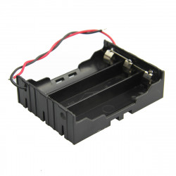 DIY 3 Slot Parallel 18650 Battery Holder With 2 Leads
