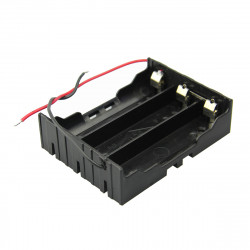 DIY 3 Slot Series 18650 Battery Holder With 2 Leads