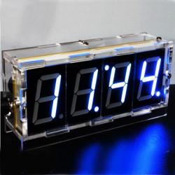 DIY 4 Digit LED Electronic Clock Kit Large Screen Red Blue Green LED