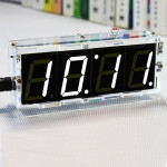 DIY 4 Digit LED Elektronisk Klocka Kit Temperatur Light Control Version Arduino SCM & 3D-skrivare