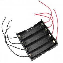 DIY 4 Slot 18650 Batteri Holder med 8 Leads
