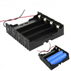 DIY 4 Slot Parallel 18650 Batterihållare med 2 Trådar