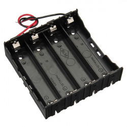 DIY 4 Slot Series18650 Battery Holder With 2 Leads