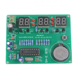 DIY 6 Digital LED Elektronisk Klocka Kit 9V-12V AT89C2051