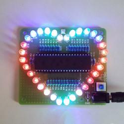 DIY Färgglada Hjärtformad LED Blinker Kit