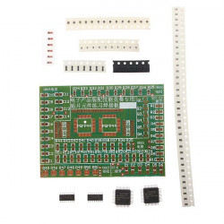 DIY Electronic SMD Components Solder Practice Plate Kit For Training