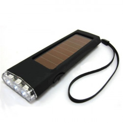 Environmental Protection ABS Solar Energy oplader med LED Lamper MP3 MP4 Digital Camera Cell Phone