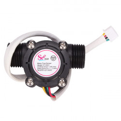 G1 / 2 Vand Flow Sensor Flowmåler Hall Flowmåler 4 Wire med Temperatur Sensing