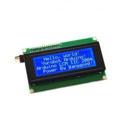 IIC / I2C 2004 204 20 X 4 Tegn LCD Display Modul Blå