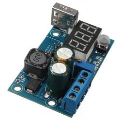 LM2596 USB LED Voltmeter DC Power Supply Adjustable Step Down Module