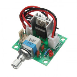 LM317 Voltage Regulator Board Fan Speed Control With Switch