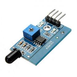 LM393 760nm - 1100nm IR Infrared Flame Sensor Module Board For Arduino