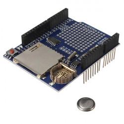 Logga Recorder Skärmad Datalogger Modul för Arduino UNO SD-kort