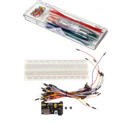 MB-102 Solderless Breadboard + Power Supply + Jumper Cable Kits + 140pcs U Shape Jumper Cable