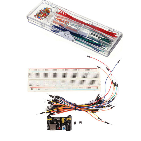 MB-102 Solderless Kopplingsdäck + Power Supply + Kopplingstråd Kits + 140st U Formad Kopplingstråd Arduino SCM & 3D-skrivare