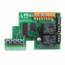 PI Face Digital i / O-udvidelseskort Board for Raspberry PI Made i UK