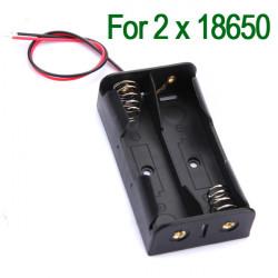 Kunststoff Batterie Speicher Tasche Kasten Halter für 2x18650 Mit 6