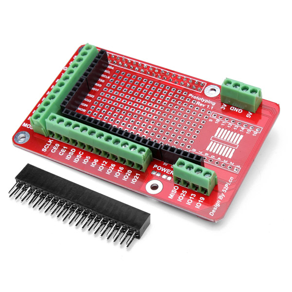 Prototyp Expansion Skärmad Kort för Raspberry Pi 2 Modell B & RPI B + Arduino SCM & 3D-skrivare