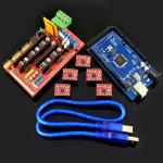 RAMP 1.4 Kontroller 2560 R3 Styrkort A4988 Driver Kit för 3D-skrivare Arduino SCM & 3D-skrivare