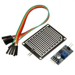 Regnsensor Modul Luftfuktighet Raindrop Väder Detektering Modul för Arduino