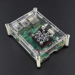 Raspberry Pi 2 Modell B + Acrylic Fodral med Fläkt Hole