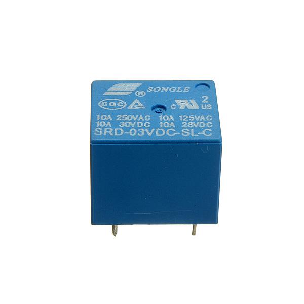 SONGLE Mini 3V DC Leistungsrelais SRD 3 VDC SL C PCB Typ Arduino SCM & 3D Drucker