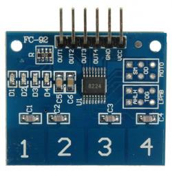 TTP224 4 Kanal Digital Touch Sensor Button Switch Modul für Arduino