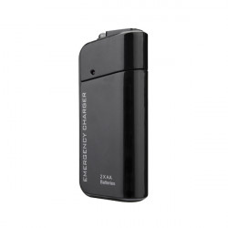 Travel Emergency AA Battery Power Bank External Backup Battery Charger For Mobile Phone With Flashlight