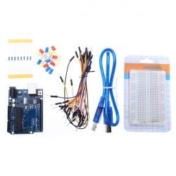 UNO R3 Utvecklingskort Startpaket Basic Kit för Arduino DIY